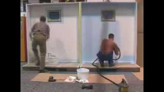 pintura com rolo x pintura com pistola schulz 350w   pintura em parede