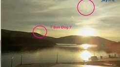 20171122 SKYLINE WEBCAM PORT of FISKARDO KEFALONIA GREECE EXO PLANET ABOVE SUN