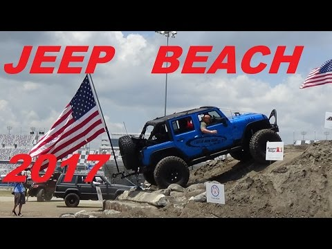 JEEP BEACH 2017 FRIDAY 28th DAYTONA SPEEDWAY OBSTACLE COURSE  FIND YOUR JEEP PART 1