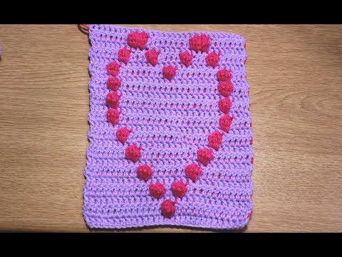 Granny square con cuore bobble stitch uncinetto parte youtube