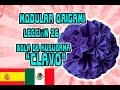 "Origami modular LECCIÓN №26 BOLA DE KUSUDAMA ""CLAVO"""