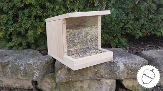 This week I made a bird feeder since a lot of birds are returning back home. I used 1x8 and 1x10 pine for this project and make sure