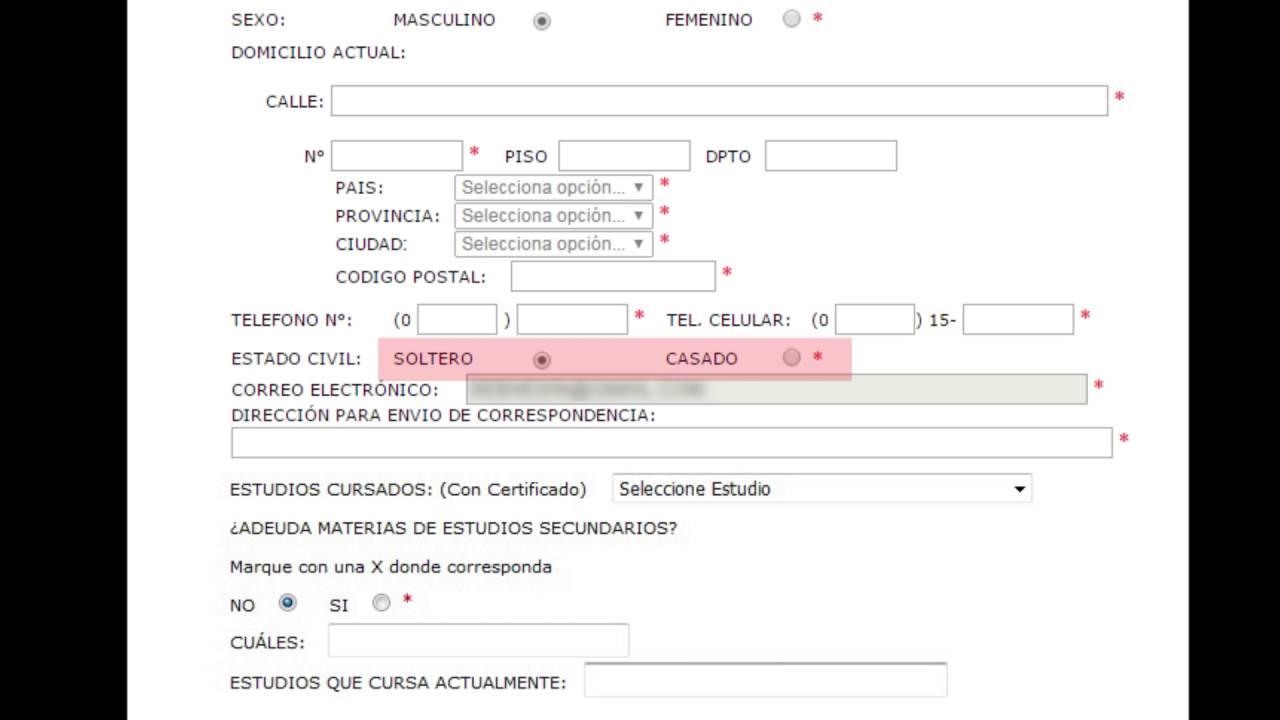 Cómo completar el formulario de inscripción para el ingreso a ...