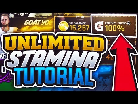 NBA 2K18: UNLIMITED FULL STAMINA TUTORIAL! HOW TO NEVER RUN OUT OF ENERGY!
