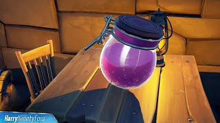 Collect Grimbles' Love Potion Fort Crumpet, Coral Cove or Stealthy Stronghold Location - Fortnite