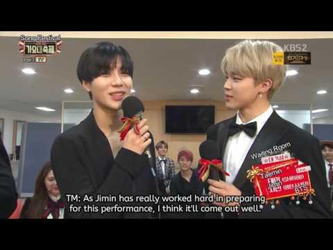 [ENG SUB] BTS Jimin & SHINee Taemin (2MIN) Interview At 2016 KBS Song Festival (161229)