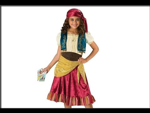 Gypsy and Fortune Teller Kids Costumes  sc 1 st  YouTube : pictures of gypsy costumes  - Germanpascual.Com