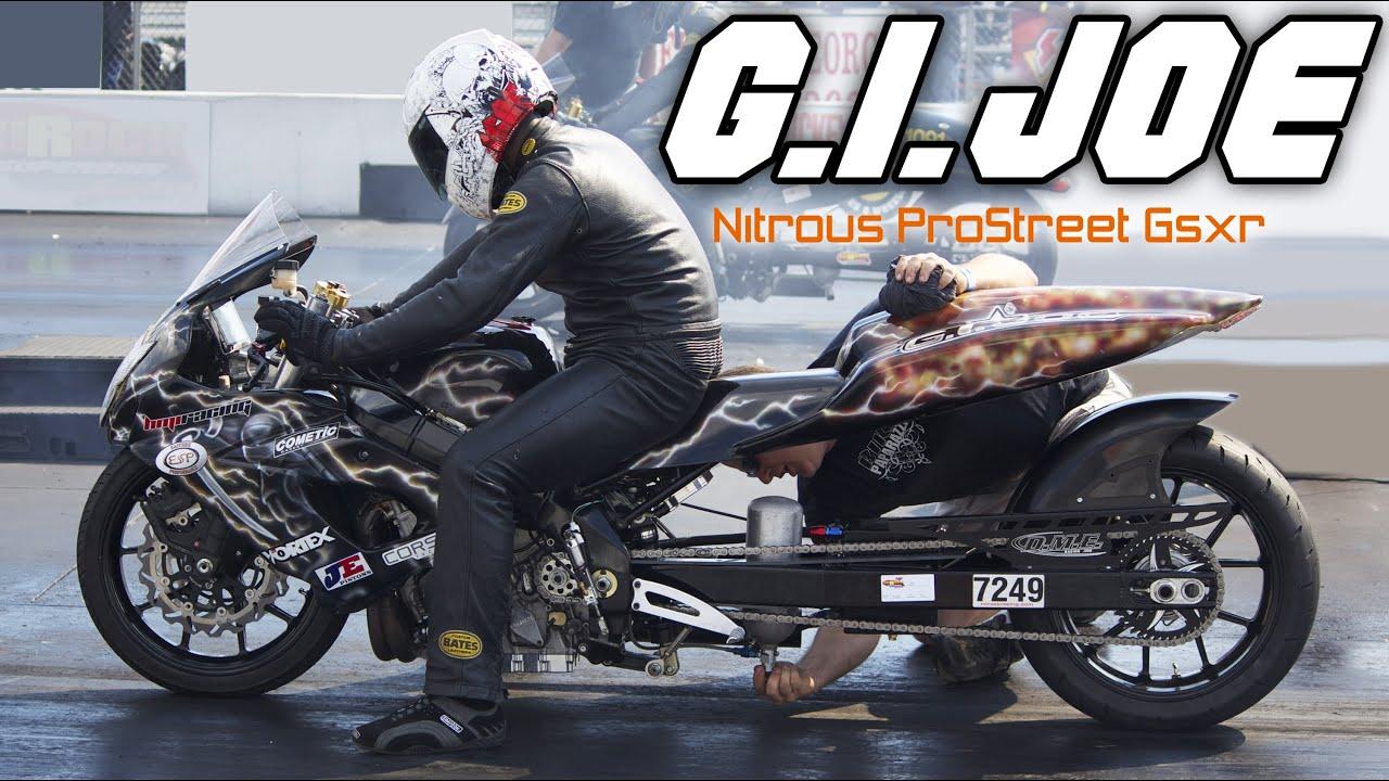 7 Second Gi Joe Nitrous Gsxr 1000 Pro Street Bike Youtube