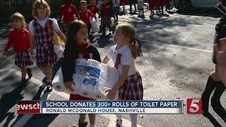 Kindergartners Donate To Ronald McDonald House