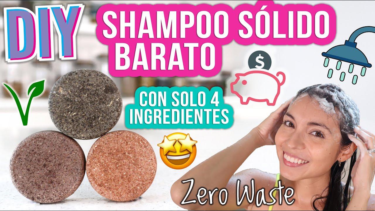 SHAMPOO SÓLIDO DIY - SOLO 4 INGREDIENTES - FÁCIL, VEGANO - Mixi