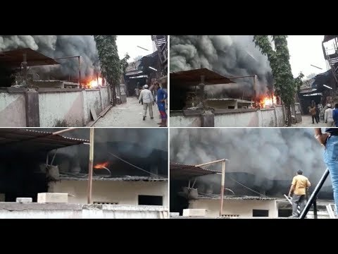 Mumbai: Fire breaks out in cloth mill at Italian Industrial Estate near Oberoi Mall, Goregaon