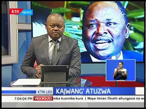 Marehemu Otieno Kajwang\' atuzwa
