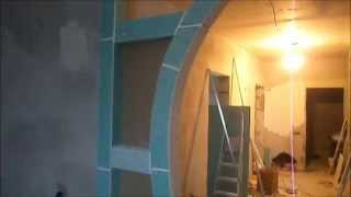 арка из гипсокартона. №2. результат.(арка из гипсокартона.чего натворил с этой