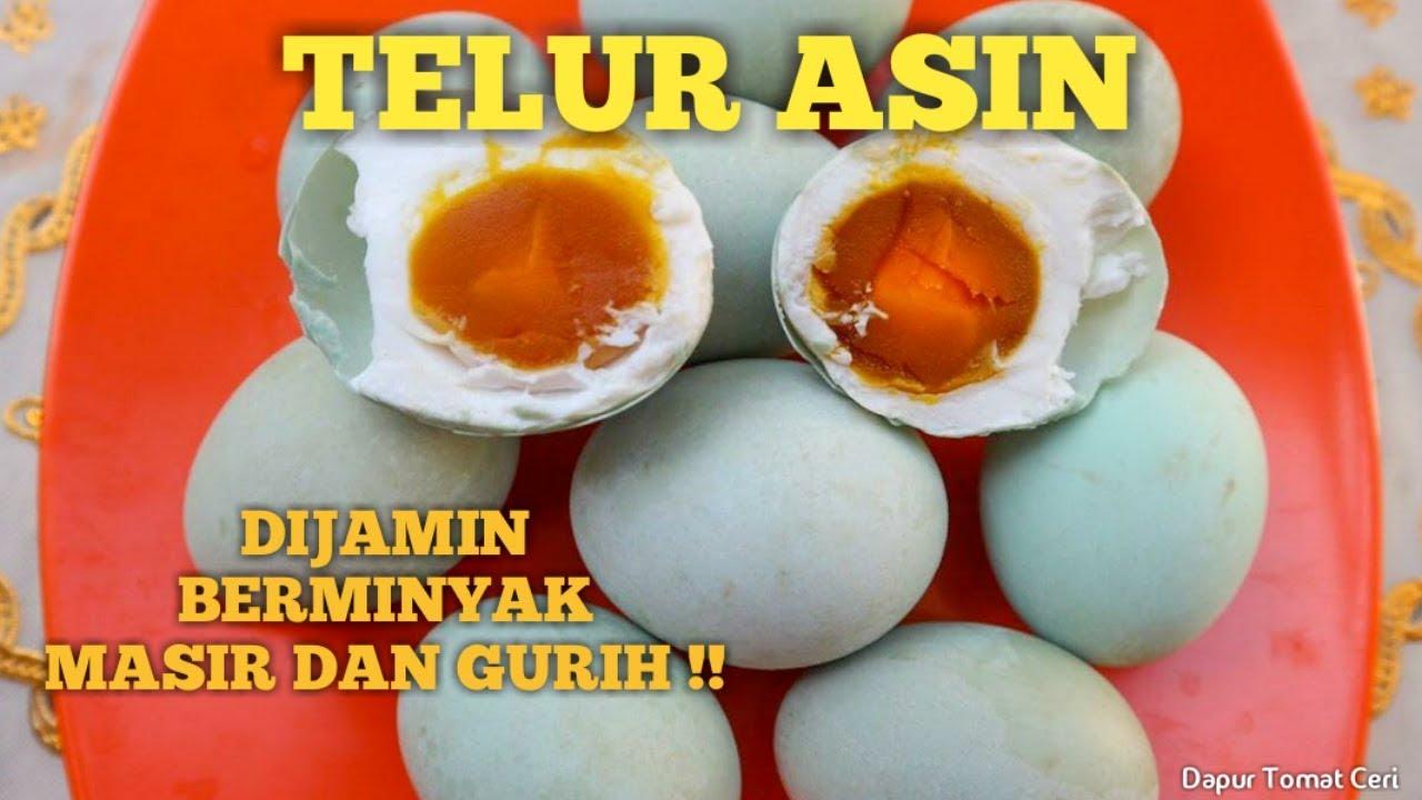 Cara Membuat Telur Asin Masir Berminyak Dengan Abu Gosok Youtube