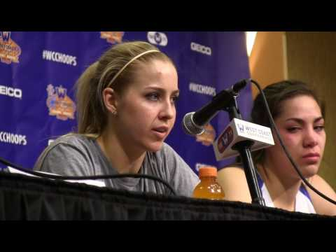 BYU postgame: Cougar women talk about 59-49 loss to Saint Mary's in WCC semifinals