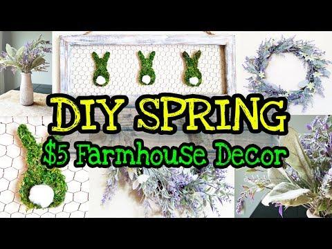 DIY Farmhouse Spring Decor / DIY Dollar Store Spring Decor