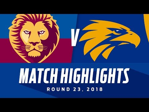Brisbane v West Coast Match Highlights | Round 23, 2018 | AFL