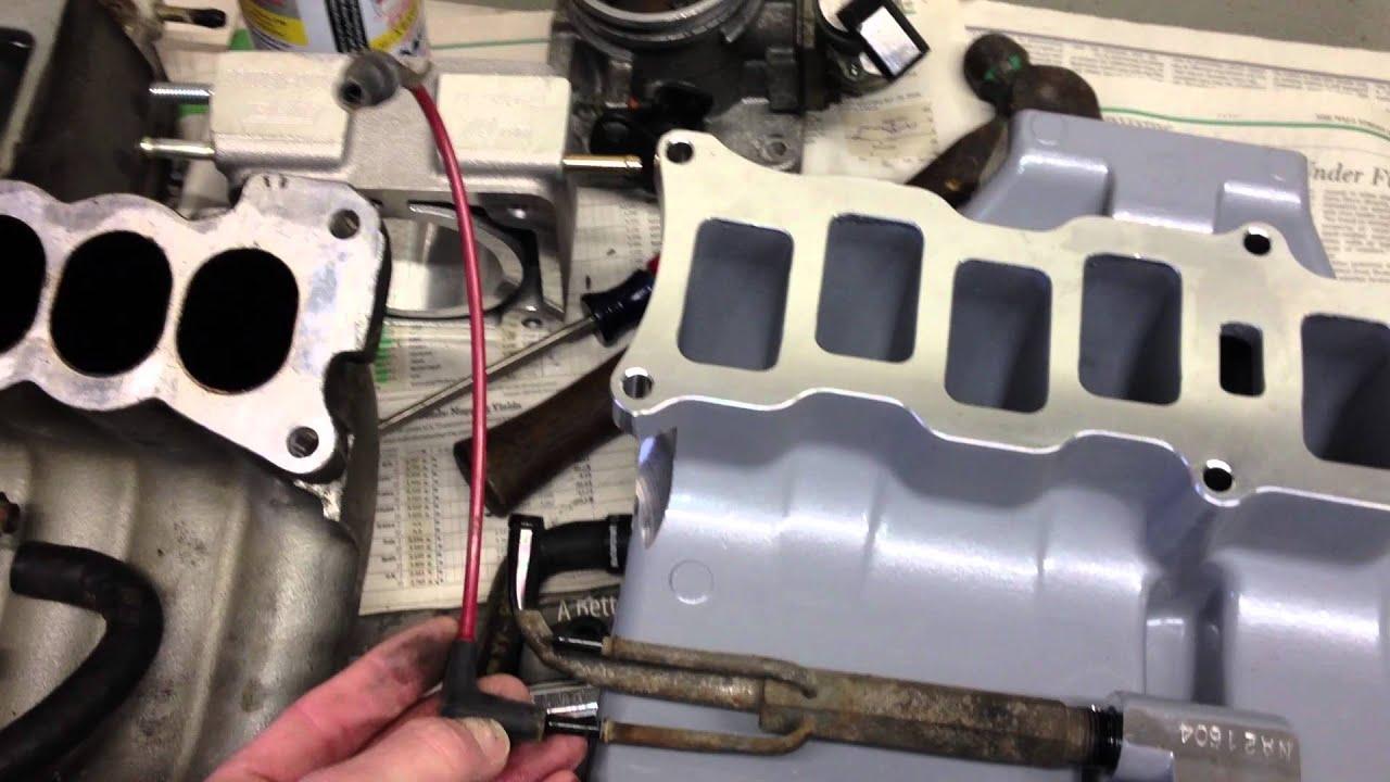 fox mustang 5 0 trick flow upper intake describing vacuum hose transfer and location [ 1280 x 720 Pixel ]