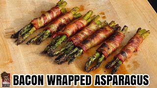 Bacon Wrapped Grilled Asparagus - Grill Beast