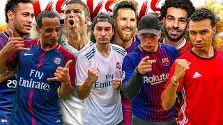 RONALDO VS MESSI VS NEYMAR VS SALAH FUßBALL CHALLENGE!