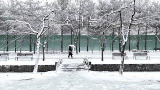 [4K/iphone12] Snow Walk in Don…