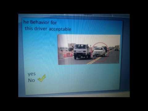 Qatar Gulf Driving sign test question