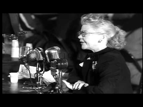 Mrs Lela Rogers testifies before House Committee on Un-American Activities in Was...HD Stock Footage