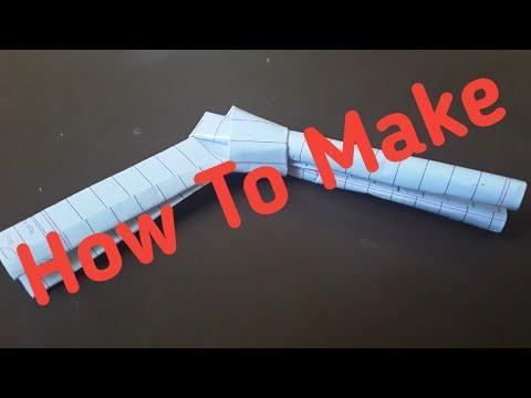 how to make a simple paper gun | Double barrel paper gun - easy tutorials