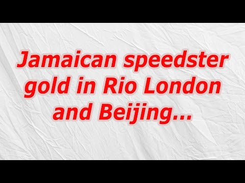 Jamaican speedster gold in Rio London and Beijing (CodyCross Crossword Answer)