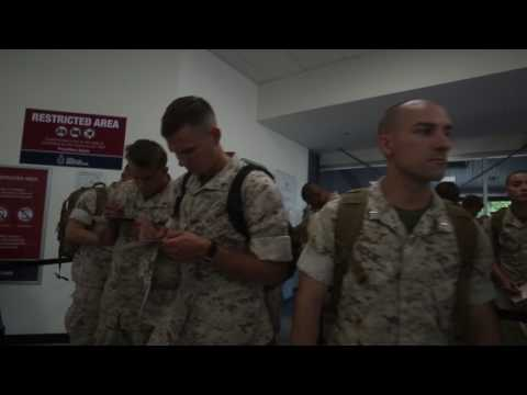Touch Down: 3rd Battalion, 4th Marines land in Darwin