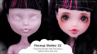 Faceup Stories: 22 {Monster High Draculaura}