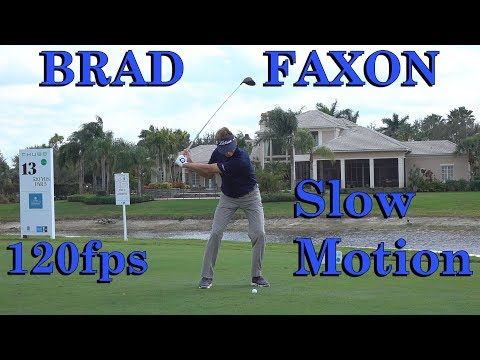 BRAD FAXON 120fps SLOW MOTION FACE ON DRIVER GOLF SWING 1080 HD