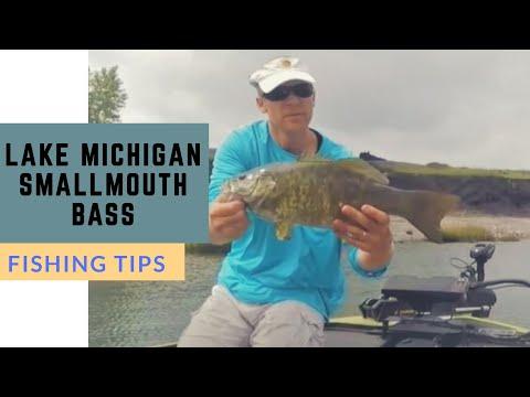 Lake Michigan Smallmouth Bass Fishing Youtube