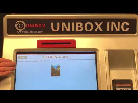 Unibox Movie rental kiosk