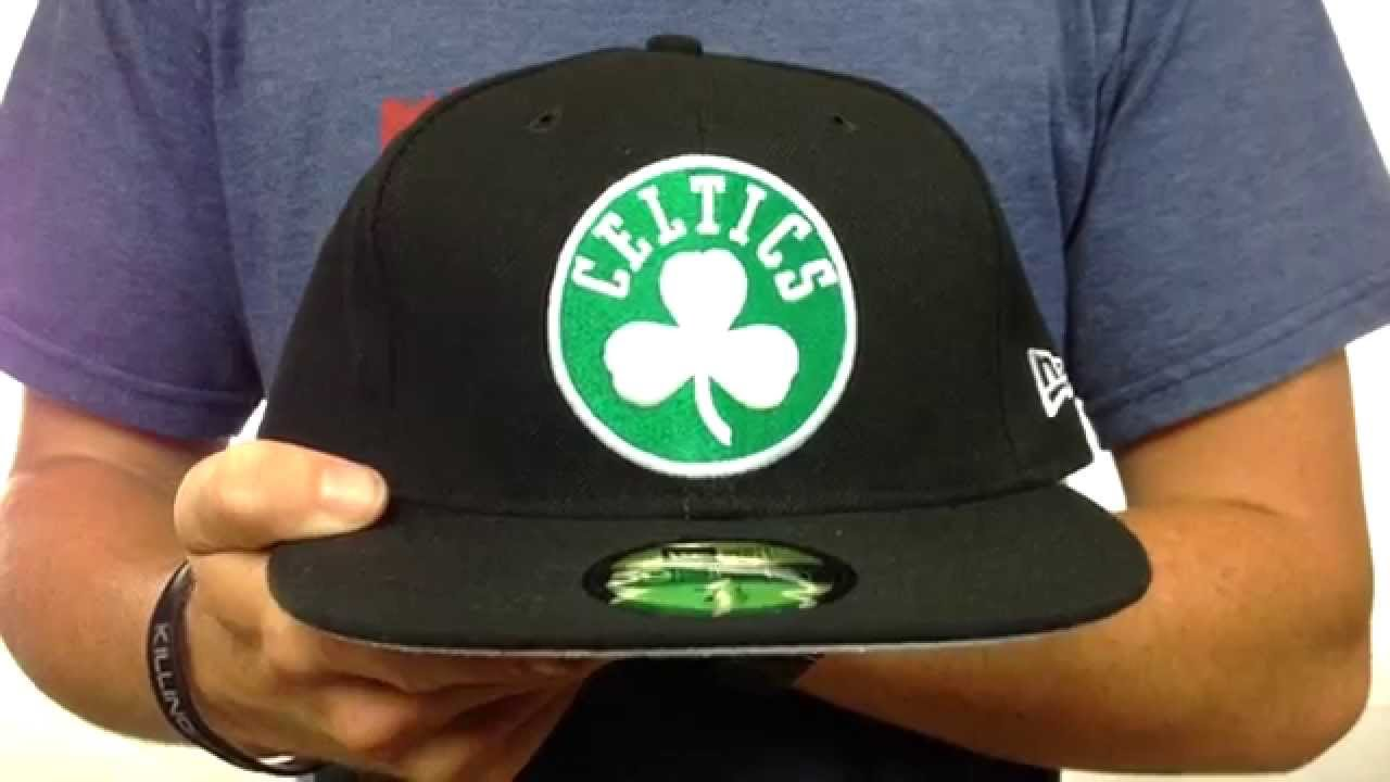 614a0ba61d3 Celtics  NBA-CHASE  Black Fitted Hat by New Era - YouTube