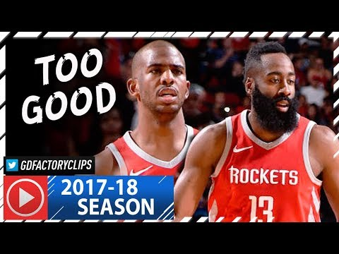 Chris Paul & James Harden Full Highlights vs Warriors (2018.01.20) - 55 Pts Combined, NASTY!