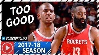 Chris Paul & James Harden Full Highlights vs Warriors (2018.01.20) - 55 Pts Combined, NASTY!