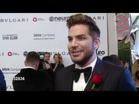 INTERVIEW: Adam Lambert at Elton John AIDS Foundation