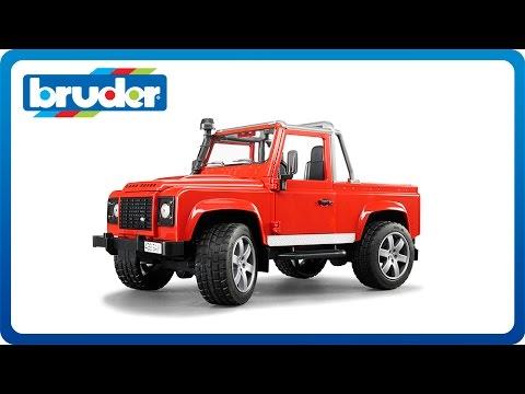 bruder 02591 land rover defender pick up how to save. Black Bedroom Furniture Sets. Home Design Ideas