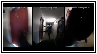 Police Shoot Guy That Started Apartment Fire | Body Cam | United States | 20190424