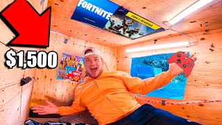 WORLDS SMALLEST BOX FORT TINY HOME! *Budget Challenge*