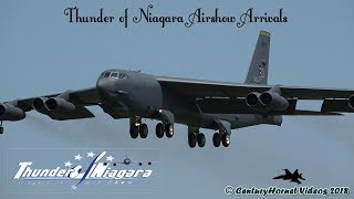 Thunder of Niagara Airshow 2018- Thursday and Friday Arrivals