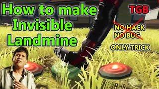 Free fire Invisible landmine tricks tamil   Free fire tamil   TGB