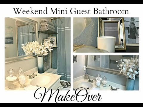 ALL NEW and MUST SEE!  Weekend Mini Guest Bathroom MAKEOVER!