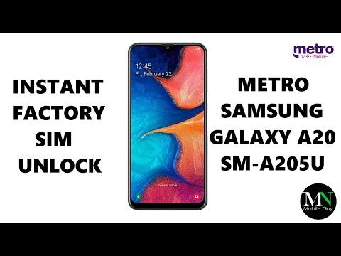 SIM Unlock Metro PCS Samsung Galaxy A20 - No Device Unlock App Needed!