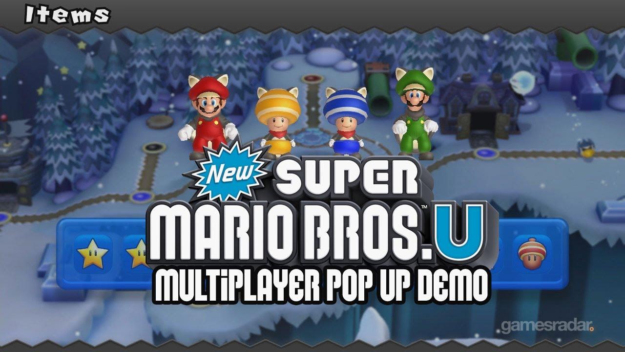 New Super Mario Bros U Multiplayer Gameplay Pop Up Demo Youtube