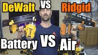 Battery Nailer VS Air Nailer | THE HANDYMAN |
