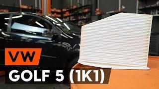 Sostituzione Filtro aria abitacolo VW GOLF: manuale tecnico d'officina