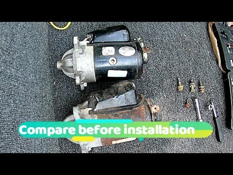 1989 omc 305 inboard wiring diagram omc cobra starter replacement youtube  omc cobra starter replacement youtube