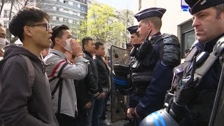 В Париже протестуют из-за убийства китайца полицией (новости)